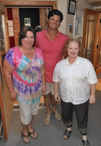 L. to R: Kim Queen, Downtown Sandpoint B.I.D. Manager, Jack Peterson — Morning Show Host, Kate McAlister — Sandpoint Chamber of Commerce President.