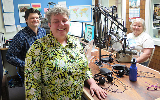 Relay for LIfe interview with (Left to right): Jack Peterson, Laura Bry, Diane Newcomer.